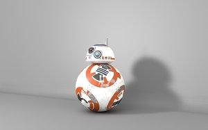 3d bb8 star-wars droid model