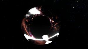 black hole 3d model