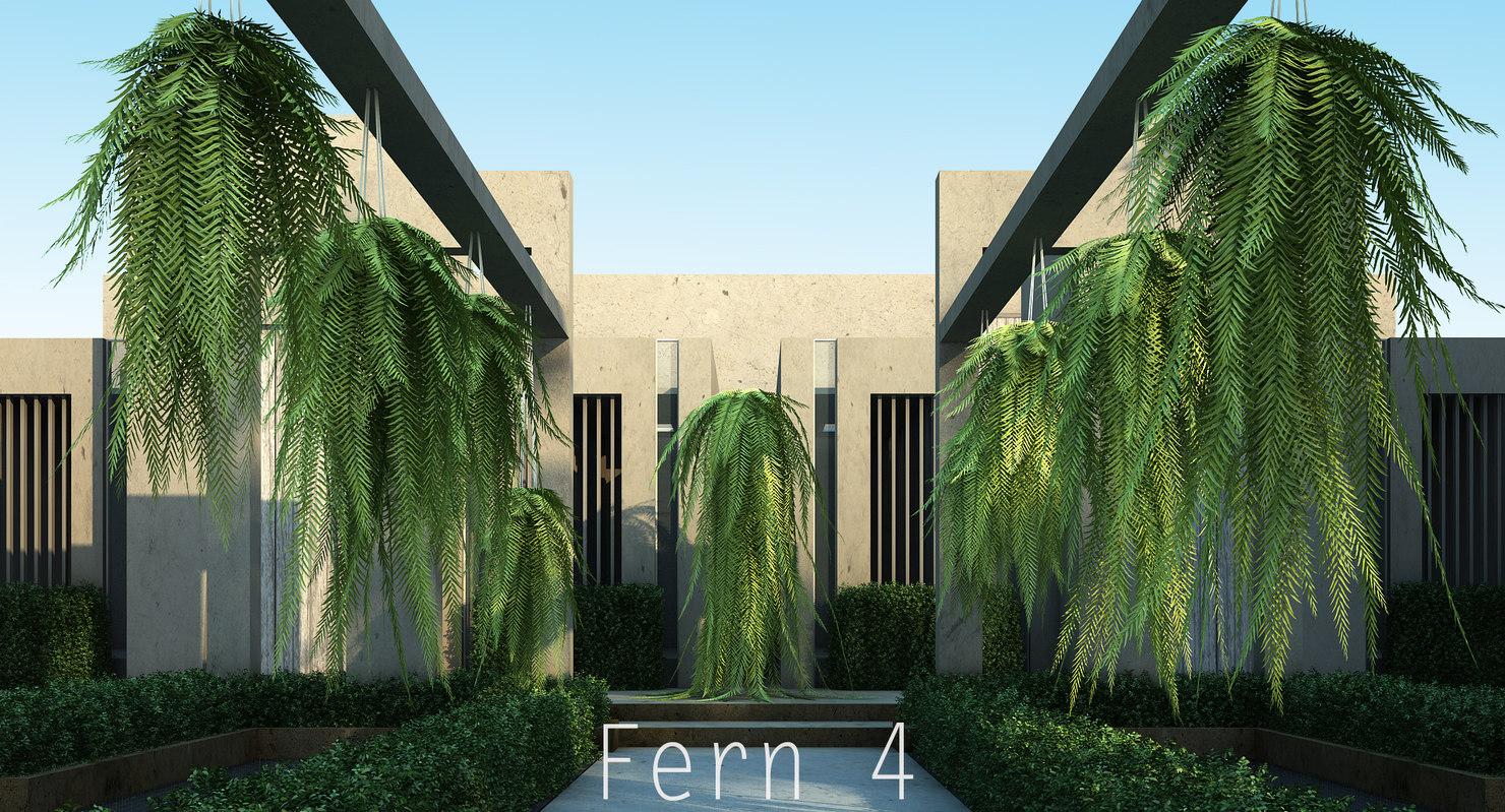3d model 4 plants