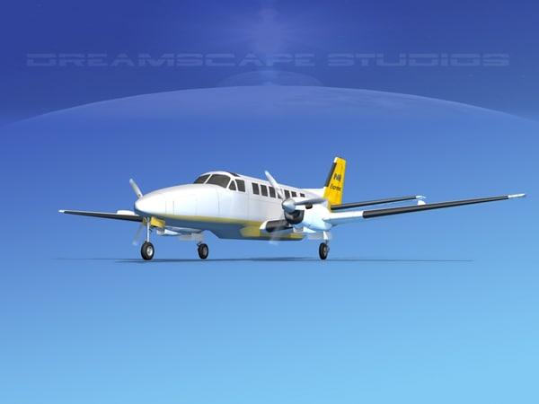 3d beechcraft airliner turboprop