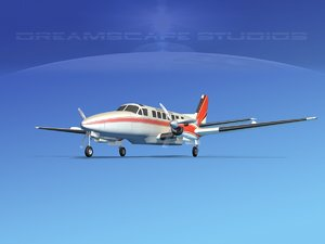 3d beechcraft air model