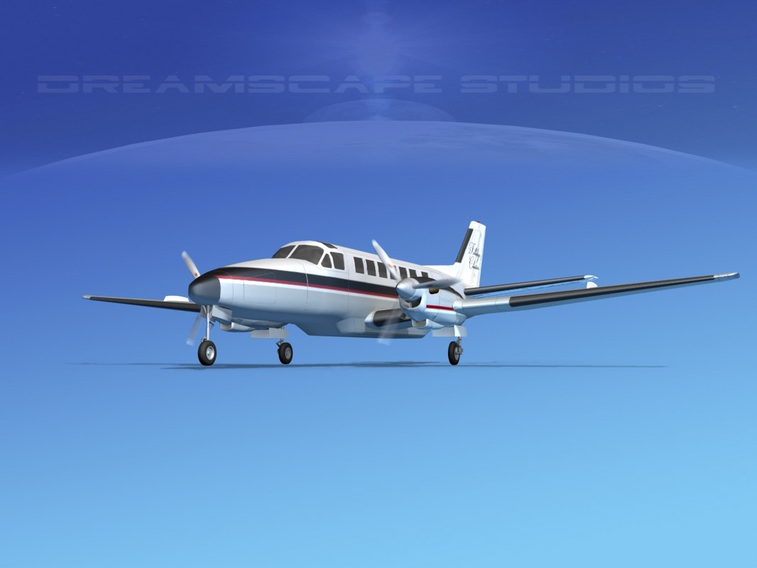 beechcraft airliner turboprop 3d 3ds