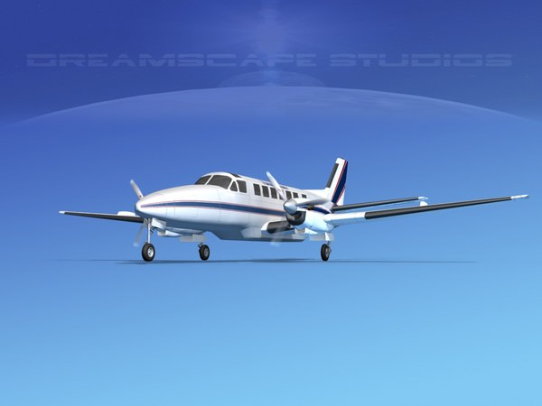 3d dxf beechcraft airliner turboprop