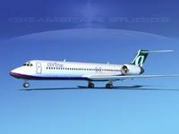 turbines boeing 717-200 717s 3d 3ds