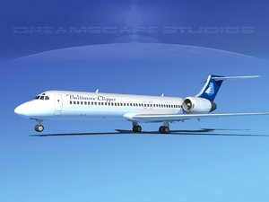 turbines boeing 717-200 717s 3ds