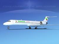 3d model turbines boeing 717-200 717s