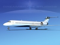 3d model of turbines boeing 717-200 717s