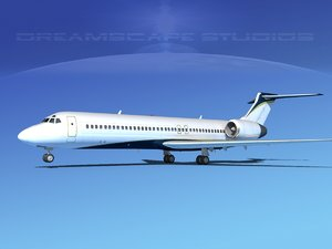 3d model of turbines boeing 717-200 717s