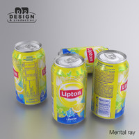 beverage lipton ice tea 3d max