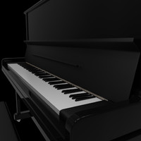 piano droit 3d model