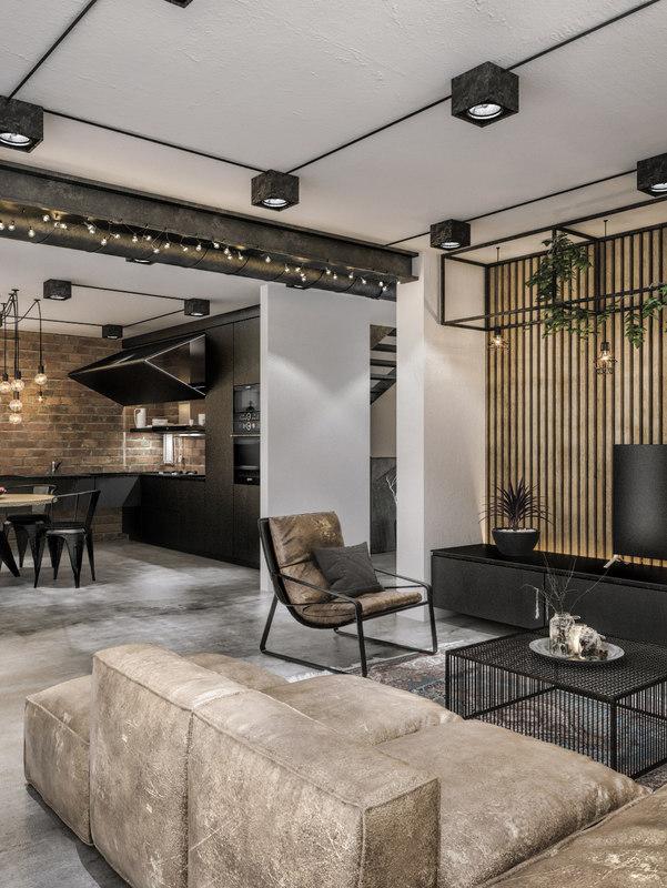 3d modern loft