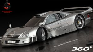 mercedes-benz clk-gtr 1997 3d model