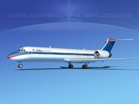 turbines boeing 717-200 airliners 3d model