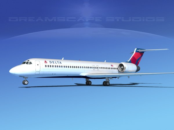 turbines boeing 717-200 airliners 3ds