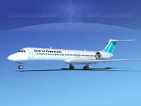 turbines boeing 717-200 717s 3d lwo