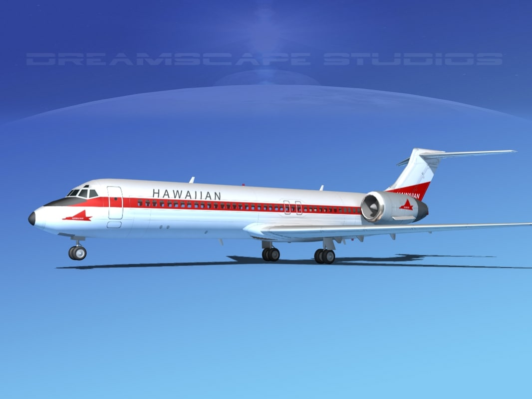 3d turbines boeing 717-200 airliners model