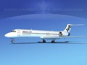 turbines boeing 717-200 jet 3d obj