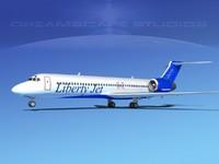 turbines boeing 717-200 jet 3d model