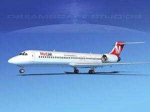 3d turbines boeing 717-200 jet model
