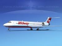 turbines boeing 717-200 717s 3d model