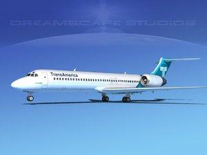 3d turbines boeing 717-200 717s model
