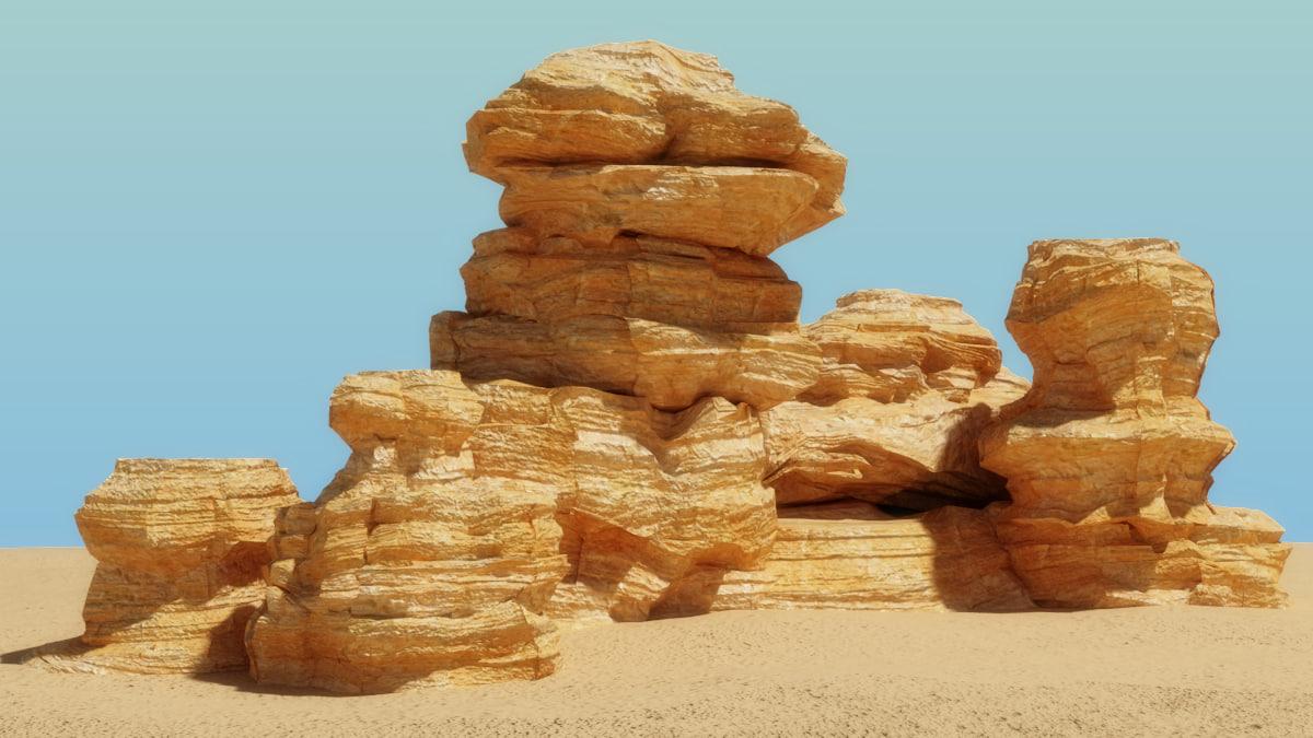 3d rock nature