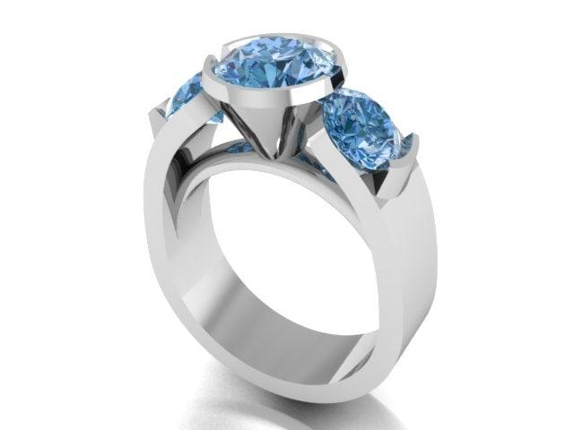 3d engagment ring model