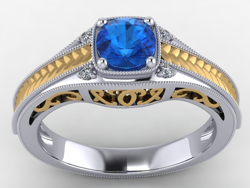 engagement ring 3d 3dm