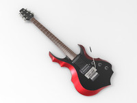 electric guitar 3d max