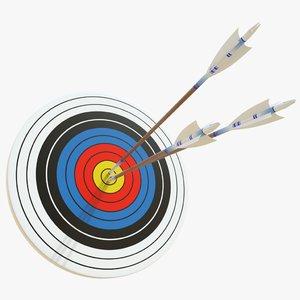 target arrows 3d obj