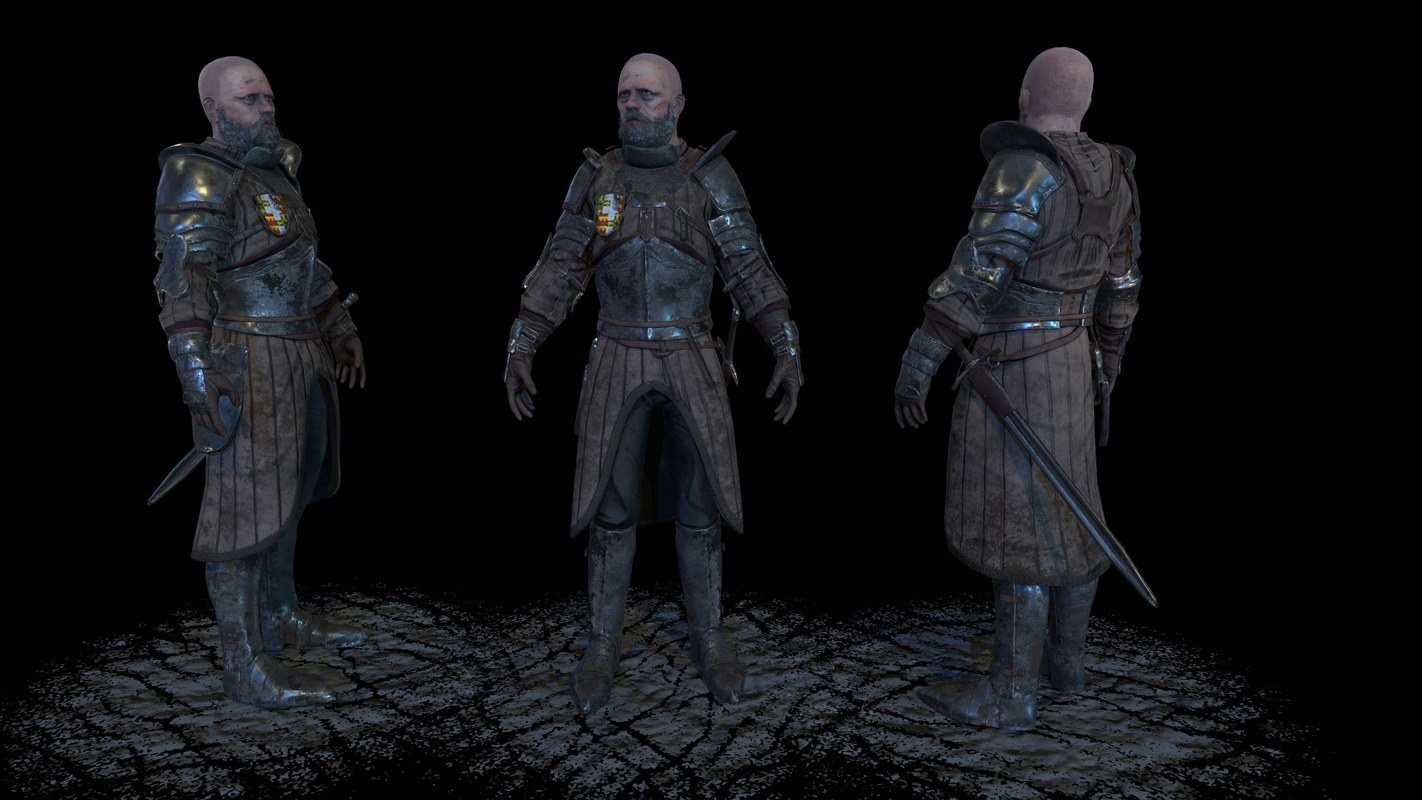 3d knight model