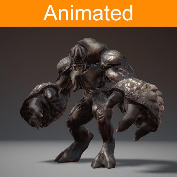 fbx character creature titan
