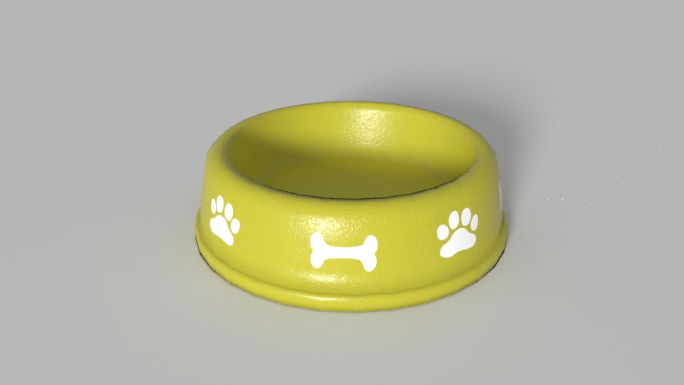 3d model of dog bowl