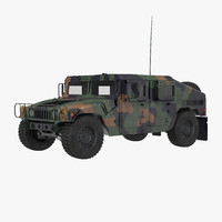 3d humvee m1151 simple interior model