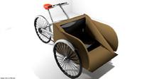 rickshaw 3d model