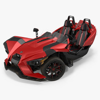 polaris slingshot trike red max