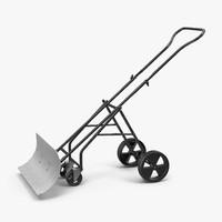 c4d rolling snow shovel