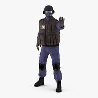 SWAT Policeman 2 Rigged