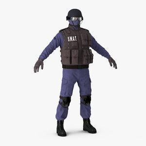 3d model swat policeman 2