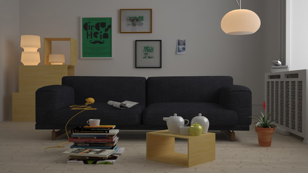 Living room 3d max for Living room 3d max