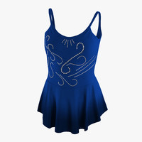 3ds female figure skater suit