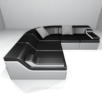 modern design sofa obj
