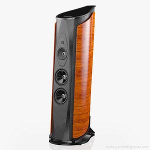 floorstanding sonus faber aida 3d model