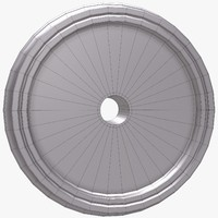 train wheel 3d obj