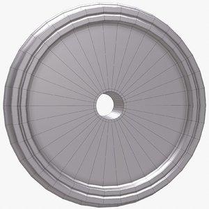 train wheel 3d obj