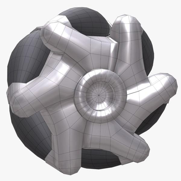 3d robot wheel model