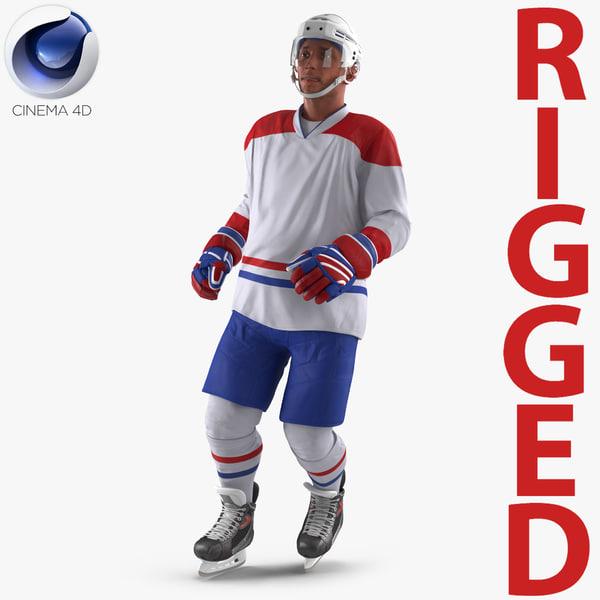 hockey player generic 3 3d c4d