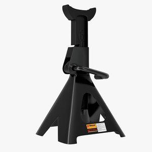 3d jack stand black model