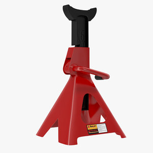 jack stand red 3d model