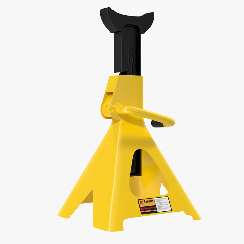 jack stand yellow 3d max